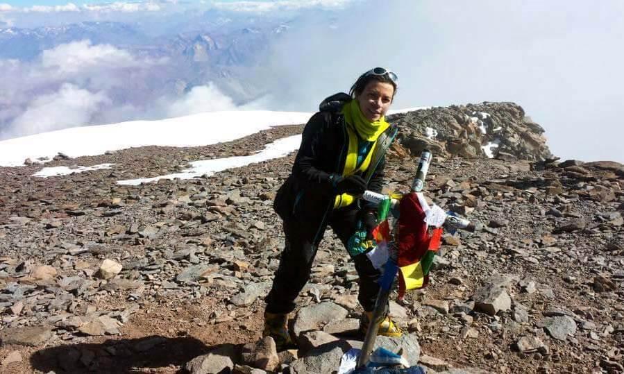 Myriam Ojeda, compañera de Mariana Torres en el Aconcagua