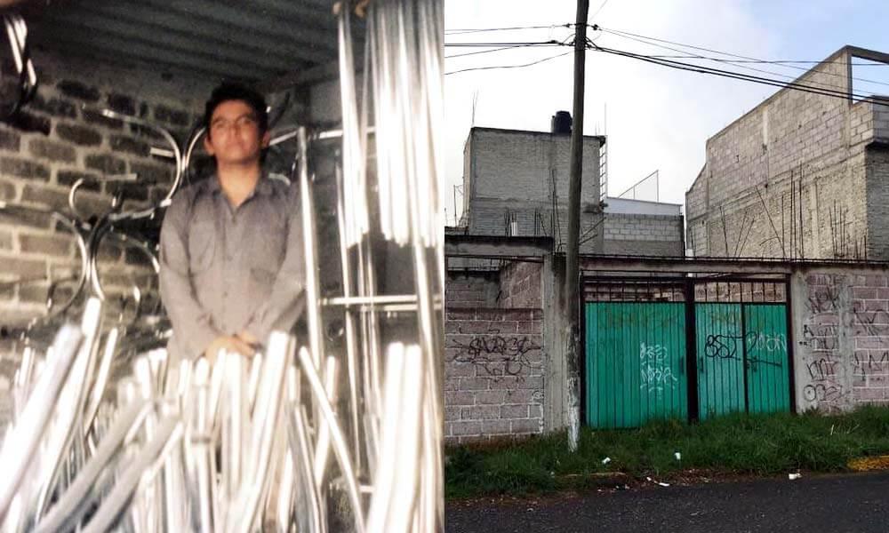 Israel Reyes Gómez en uno de sus varios trabajos en Chiconautla, Estado de México