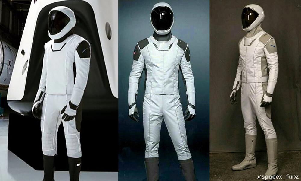Modelos previos al traje final de SpaceX diseñado por José Fernandez