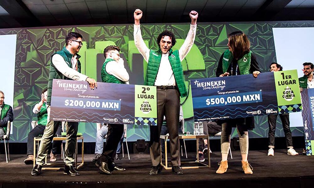 David Hernández, uno de los ganadores de Heineken Green Challenge