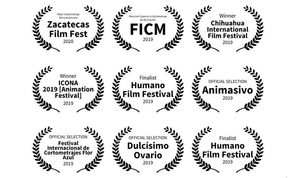 """Premios y reconocimientos del cortometraje animado """"Dalia Sigue Aquí"""""""